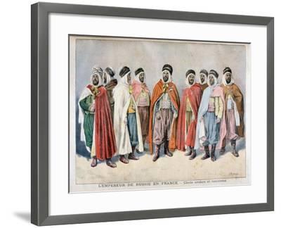 Arab and Tunisian Chiefs, 1896-Frederic Lix-Framed Giclee Print