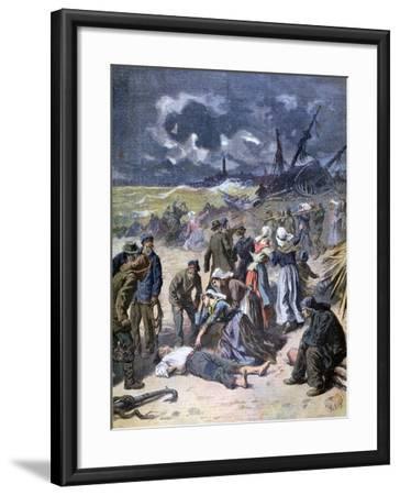 A Storm at Calais, France, 1893-Frederic Lix-Framed Giclee Print