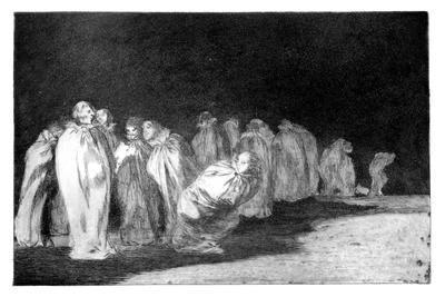 The Men in Sacks, 1819-1823-Francisco de Goya-Framed Giclee Print