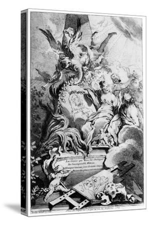 Les Graces Au Tombeau De Watteau, C1720-1770-Fran?ois Boucher-Stretched Canvas Print