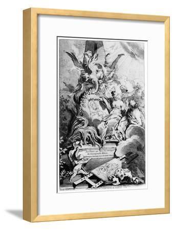 Les Graces Au Tombeau De Watteau, C1720-1770-Fran?ois Boucher-Framed Giclee Print