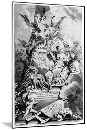 Les Graces Au Tombeau De Watteau, C1720-1770-Fran?ois Boucher-Mounted Giclee Print