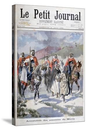 Arrest of the Assassins of Mores, Algeria, 1898-F Meaulle-Stretched Canvas Print