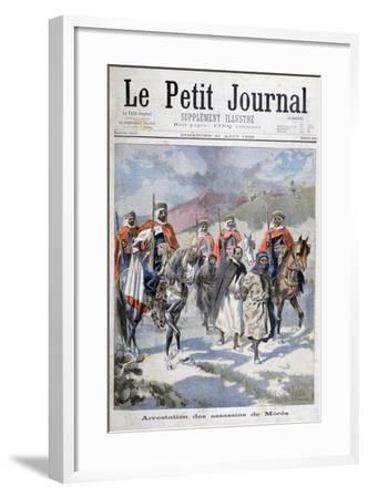 Arrest of the Assassins of Mores, Algeria, 1898-F Meaulle-Framed Giclee Print