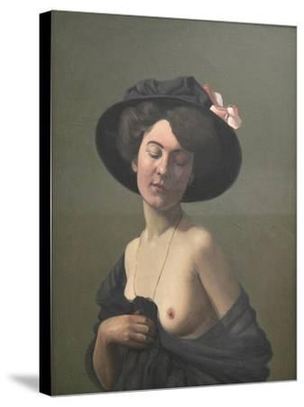 Young Woman in a Black Hat, 1908-F?lix Vallotton-Stretched Canvas Print