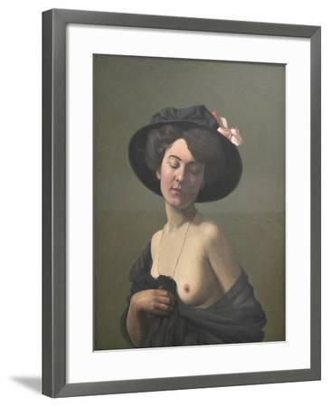 Young Woman in a Black Hat, 1908-F?lix Vallotton-Framed Giclee Print