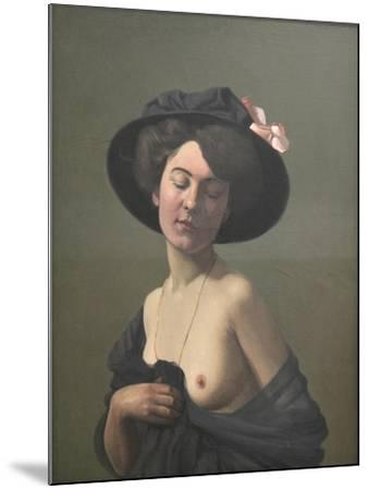 Young Woman in a Black Hat, 1908-F?lix Vallotton-Mounted Giclee Print