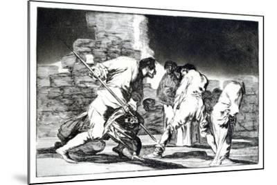 Riddle of Fury, 1819-1823-Francisco de Goya-Mounted Giclee Print