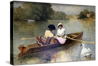 Boating on the Seine, 1875-1876-Ferdinand Heilbuth-Stretched Canvas Print