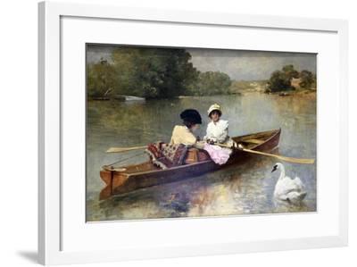 Boating on the Seine, 1875-1876-Ferdinand Heilbuth-Framed Giclee Print