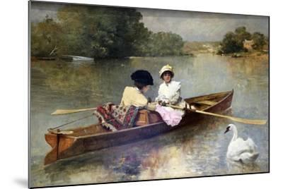 Boating on the Seine, 1875-1876-Ferdinand Heilbuth-Mounted Giclee Print