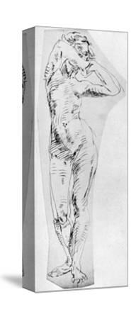 Standing Figure of a Girl, 1926-Frances Jennings-Stretched Canvas Print