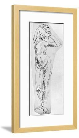 Standing Figure of a Girl, 1926-Frances Jennings-Framed Giclee Print
