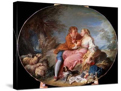 Pastoral Scene, 1740-Fran?ois Boucher-Stretched Canvas Print