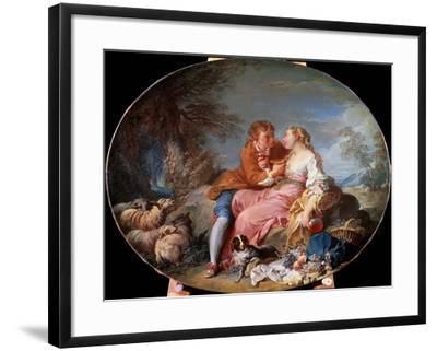 Pastoral Scene, 1740-Fran?ois Boucher-Framed Giclee Print