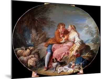 Pastoral Scene, 1740-Fran?ois Boucher-Mounted Giclee Print