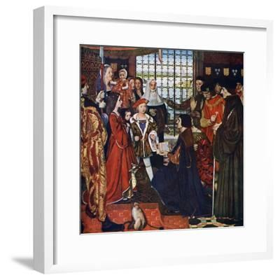 The New Learning, C1910, (C1900-192)-Frank Cadogan Cowper-Framed Giclee Print