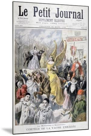 Mid-Lent Celebrations, Paris, 1896-F Meaulle-Mounted Giclee Print