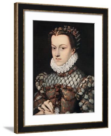 Princess Elizabeth of Austria, C1571-Francois Clouet-Framed Giclee Print