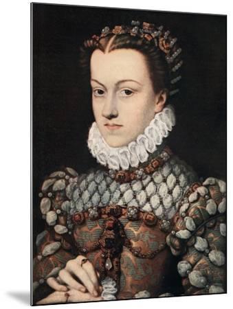 Princess Elizabeth of Austria, C1571-Francois Clouet-Mounted Giclee Print