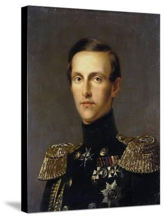 Portrait of Grand Duke Konstantin Nikolayevich of Russia, (1827-189), C1850-Franz Kruguer-Stretched Canvas Print