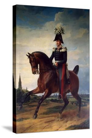 Equestrian Portrait of Frederick William III of Prussia, (1797-184), 1831-Franz Kruguer-Stretched Canvas Print