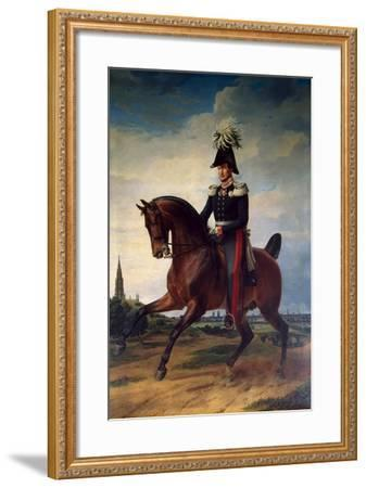 Equestrian Portrait of Frederick William III of Prussia, (1797-184), 1831-Franz Kruguer-Framed Giclee Print