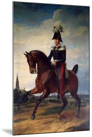 Equestrian Portrait of Frederick William III of Prussia, (1797-184), 1831-Franz Kruguer-Mounted Giclee Print