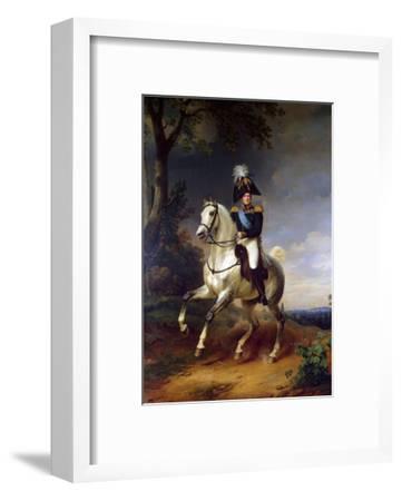 Equestrian Portrait of Emperor Alexander I, (1777-182), 1837-Franz Kruguer-Framed Giclee Print