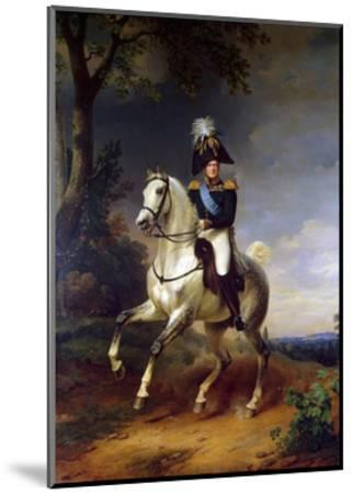 Equestrian Portrait of Emperor Alexander I, (1777-182), 1837-Franz Kruguer-Mounted Giclee Print