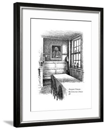 Johnson's Corner, the Cheshire Cheese Pub, City of London, 1912-Frederick Adcock-Framed Giclee Print
