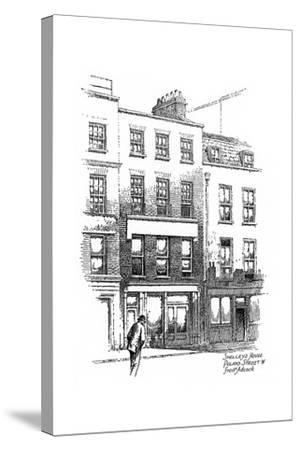 Percy Bysshe Shelley's House, Poland Street, Borough of Westminster, London, 1912-Frederick Adcock-Stretched Canvas Print