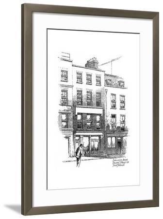 Percy Bysshe Shelley's House, Poland Street, Borough of Westminster, London, 1912-Frederick Adcock-Framed Giclee Print