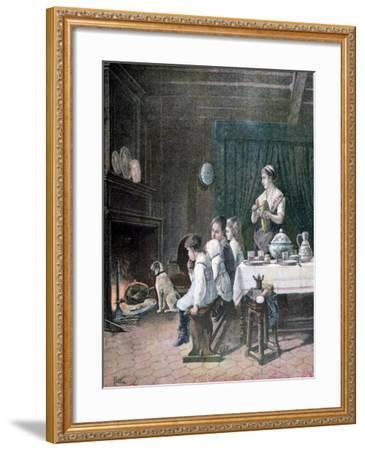 Waiting, 1890-F Meaulle-Framed Giclee Print