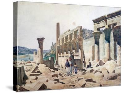 Temple of Venus Athor, Philae, 19th Century-FH Naudin-Stretched Canvas Print