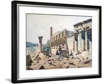 Temple of Venus Athor, Philae, 19th Century-FH Naudin-Framed Giclee Print
