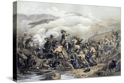 The Battle of Drumclog, 1679-George Harvey-Stretched Canvas Print