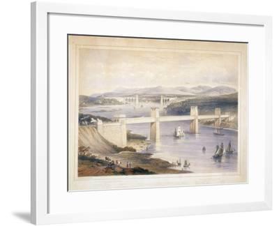 Britannia Tubular Bridge over the Menai Straits, Wales, C1850-C1852-George Hawkins-Framed Giclee Print