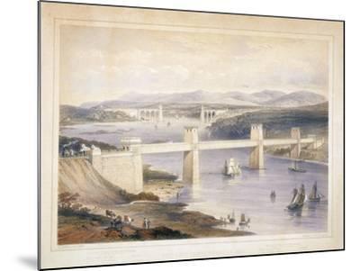 Britannia Tubular Bridge over the Menai Straits, Wales, C1850-C1852-George Hawkins-Mounted Giclee Print
