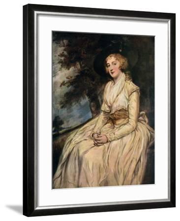Charlotte, Lady Milnes 18th Century-George Romney-Framed Giclee Print