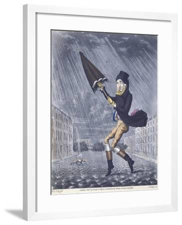 A Soaker or a Real Cat and Dog Day, 1825-G Hunt-Framed Giclee Print