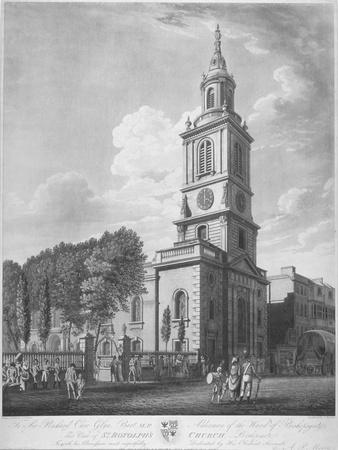 Church of St Botolph Without Bishopsgate, City of London, 1802-George Hawkins-Framed Giclee Print