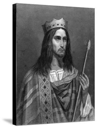 Clovis Ii, King of Neustria and Burgundy-G Levy-Stretched Canvas Print