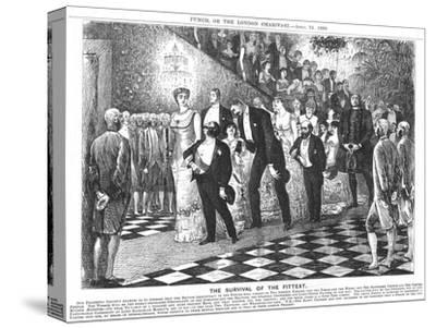 The Survival of the Fittest'; Application of Darwinism in the 21st Century, 1880-George Du Maurier-Stretched Canvas Print