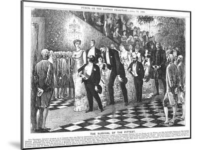 The Survival of the Fittest'; Application of Darwinism in the 21st Century, 1880-George Du Maurier-Mounted Giclee Print