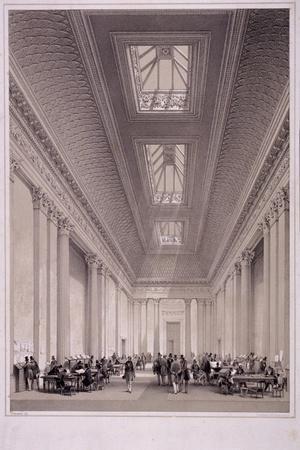 Hall of Commerce, Threadneedle Street, London, C1850-George Hawkins-Stretched Canvas Print