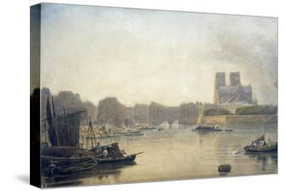 Notre Dame, Paris, 19th Century-Frederick Nash-Stretched Canvas Print