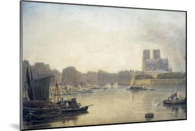Notre Dame, Paris, 19th Century-Frederick Nash-Mounted Giclee Print