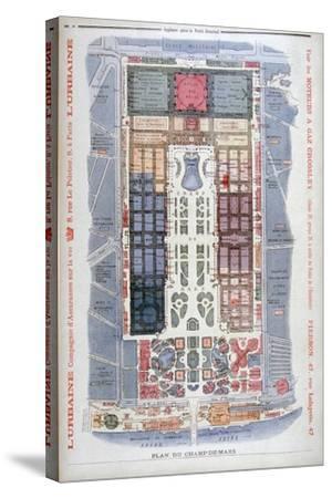 The Champs De Mars, Universal Exhibition of 1900, Paris, 1900-G Rochet-Stretched Canvas Print