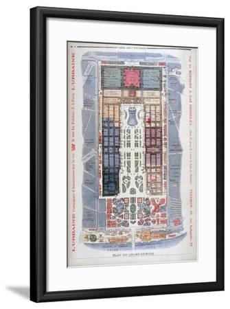 The Champs De Mars, Universal Exhibition of 1900, Paris, 1900-G Rochet-Framed Giclee Print